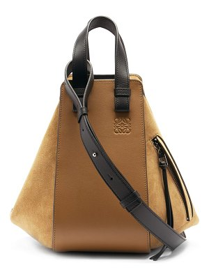 Loewe hammock small grained-leather bag