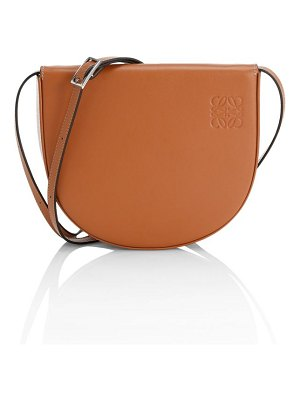 Loewe heel leather saddle bag