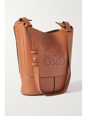 Loewe hobo small perforated leather shoulder bag
