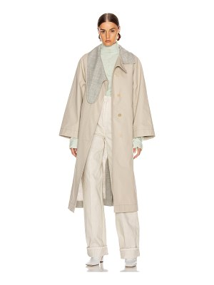 Loewe long asymmetrical collar coat