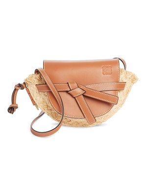 Loewe mini gate leather & raffia crossbody bag