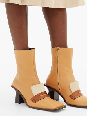 Loewe oversized-sole square-toe leather boots