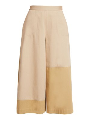 Loewe patchwork cotton culottes