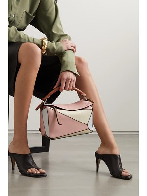 Loewe paula's ibiza puzzle color-block textured-leather shoulder bag