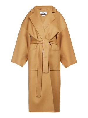 Loewe piacenza oversized belted wool blend coat
