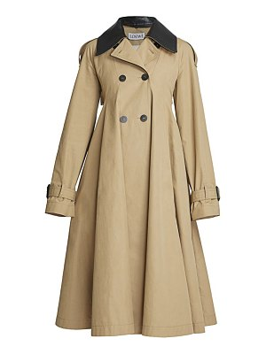 Loewe pleated a-line trench coat