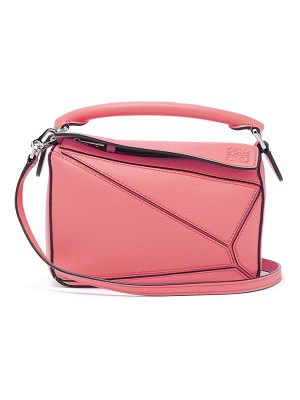Loewe puzzle mini grained leather cross body bag