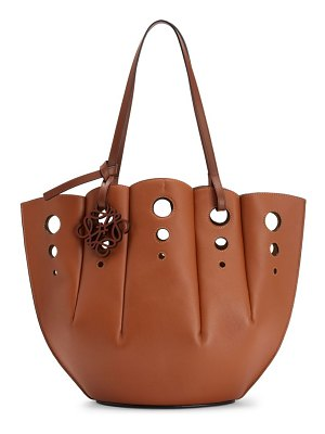 Loewe shell perforated leather tote