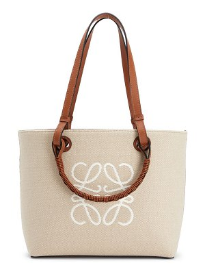 Loewe small anagram canvas tote