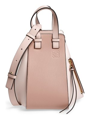 Loewe small hammock bicolor leather hobo