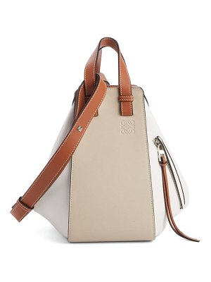 Loewe small hammock colorblock leather hobo