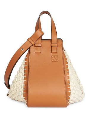 Loewe small hammock crochet leather bag