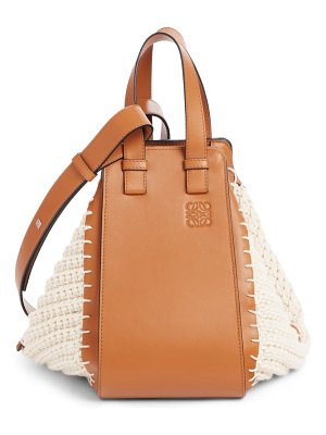 Loewe small hammock knit & leather hobo