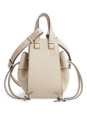 Loewe small hammock leather & linen hobo
