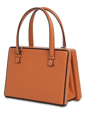 Loewe Small top handle leather postal bag