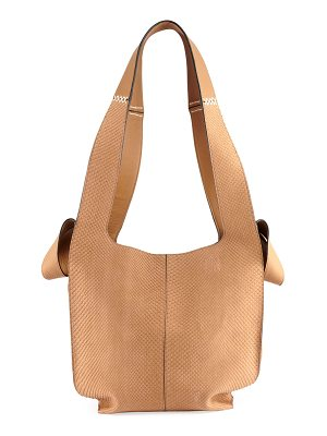 LOEWE Snakeskin And Leather Hobo Tote Bag