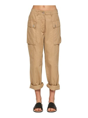 Loewe Wide leg cotton canvas cargo pants