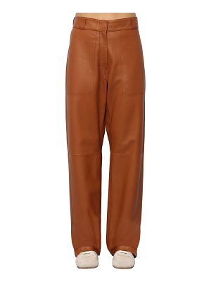 Loewe Wide leg leather pants