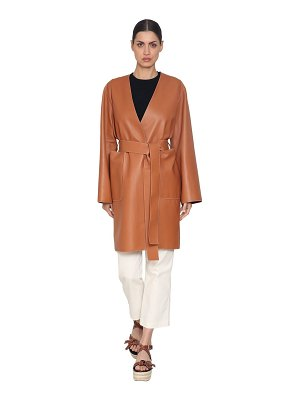 Loewe Wrap nappa leather coat