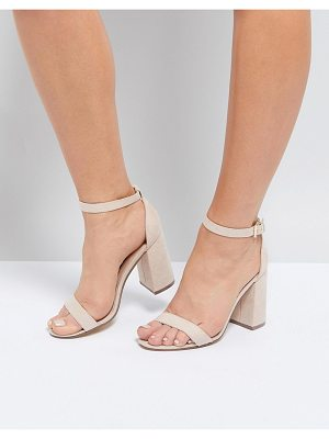 London Rebel Barely There Block Heel Sandal
