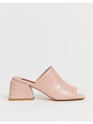 London Rebel croc mules
