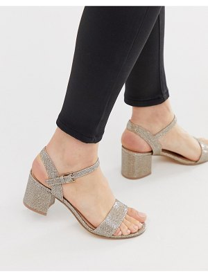 London Rebel kitten heel sandals