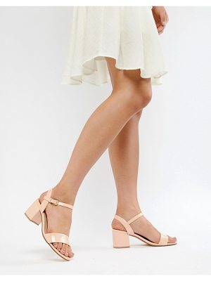 London Rebel mid block heel sandals