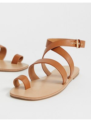 London Rebel toe loop flat sandals