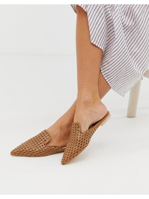 London Rebel woven point flat mules