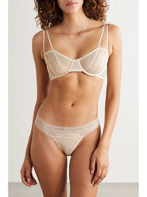 Lonely rumi lace and stretch-mesh underwired bra