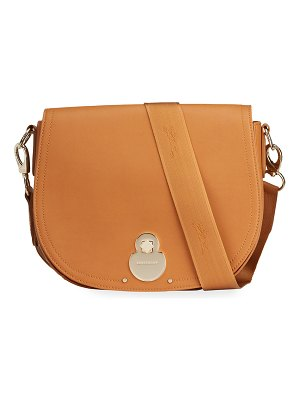 Longchamp Cavalcade Small Split Leather Crossbody Bag