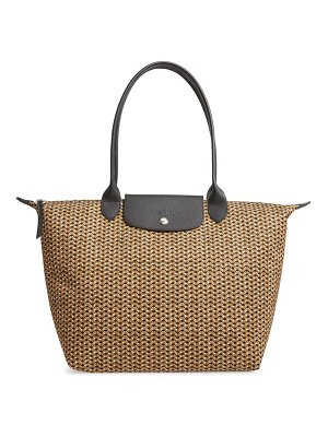 Longchamp large le pliage print nylon shoulder tote