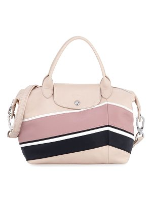 LONGCHAMP Le Pliage Cuir Chevron Small Handbag With Strap