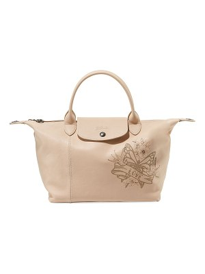Longchamp Le Pliage Cuir Tattoo Small Satchel Bag