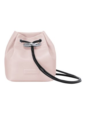 Longchamp mini roseau lambskin leather bucket bag
