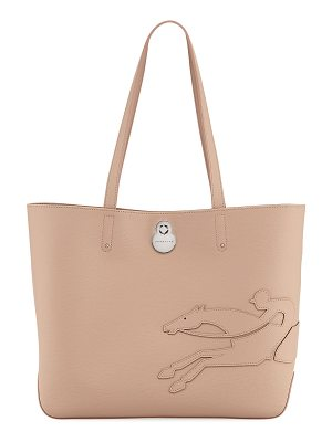 LONGCHAMP Shop-It Medium Leather Tote Bag