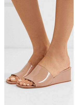 LOQ sol patent-leather wedge sandals