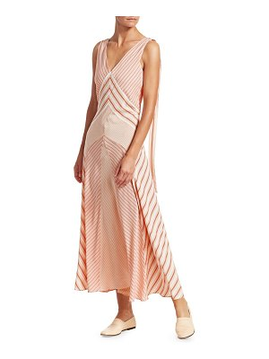 Loro Piana beatris silk striped flared tank dress