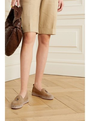 Loro Piana summer charms suede espadrilles
