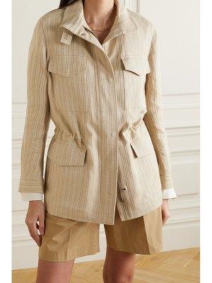 Loro Piana traveller herringbone linen jacket