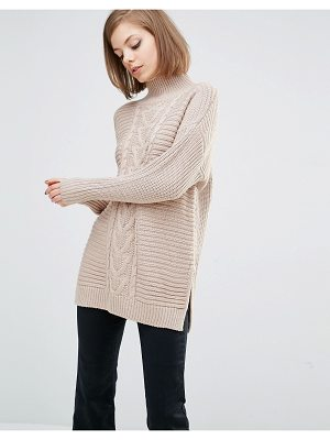 LOST INK High Neck Boyfriend Sweater