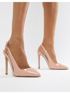 Lost Ink tanya clear detail sling back pumps