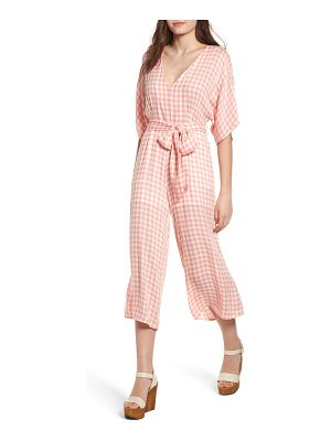 Lost + Wander brunch gingham jumpsuit