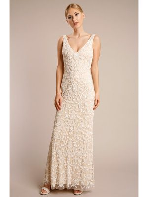 LOTUS THREADS beaded lace gown