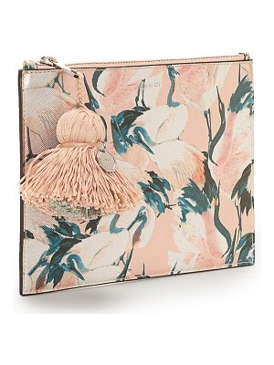 LOUISE ET CIE Melle Metallic Leather Tassel Pouch