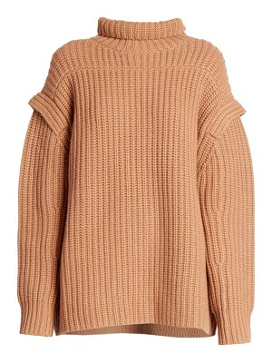 LOULOU STUDIO parata stand collar wool & cashmere knit sweater