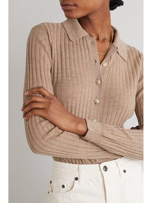 LOULOU STUDIO sulug ribbed mélange wool and cashmere-blend sweater