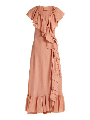 Loup Charmant Callela Ruffled Cotton Wrap Dress