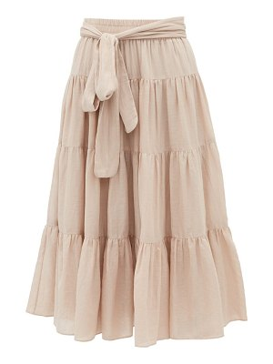 Loup Charmant demeter tiered cotton-poplin midi skirt