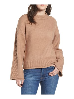 Love By Design lattice sleeve sweater